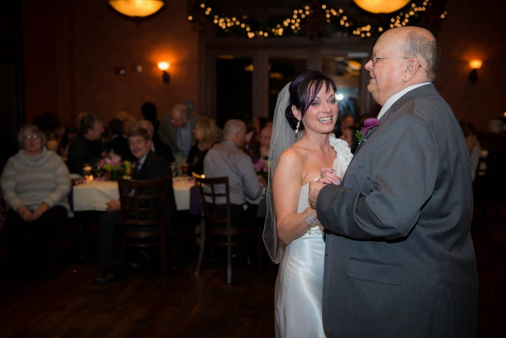 bride and father  couple dancing at wedding reception in Salem NH