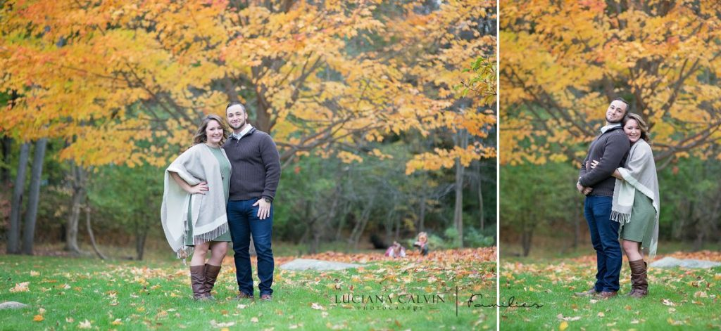 Family fall portrait with two little girls