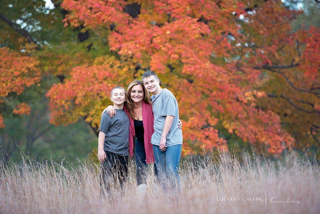 Fall family portrait in Walpole MA